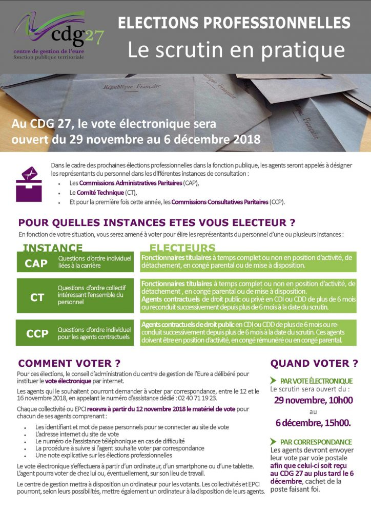 Elections Professionnelles Une Plaquette Pour Informer Vos Agents