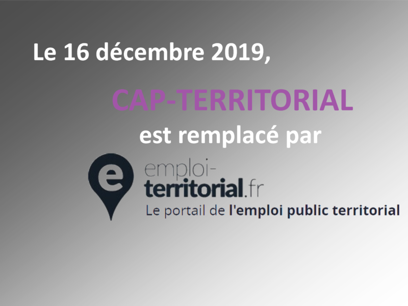 emploi-territorial : un nouveau site pour la bourse de l'emploi et la diffusion de vos offres d'emploi