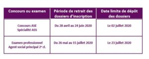 dates concours ASE