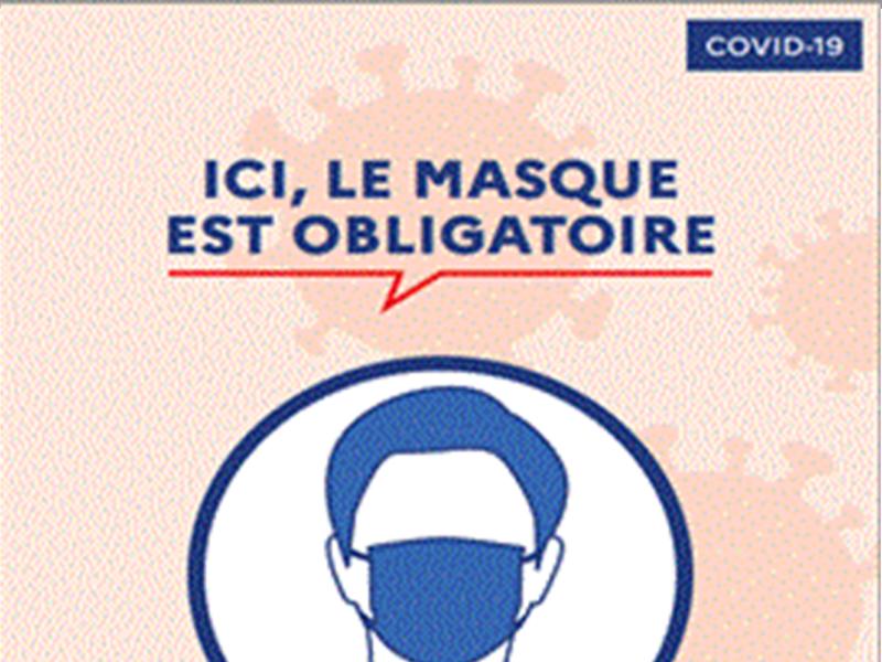 Port du masque obligatoire à compter du 1er septembre