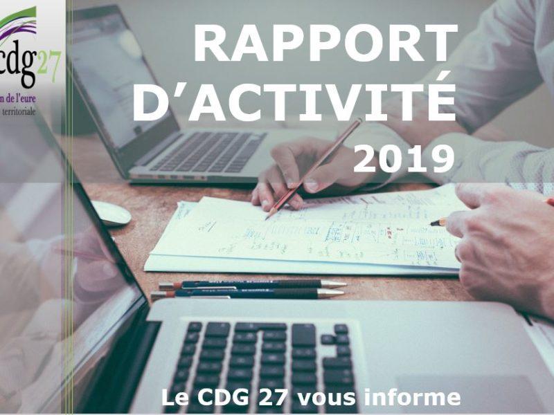 Rapport d'activités du CDG 27 pour l'année 2019